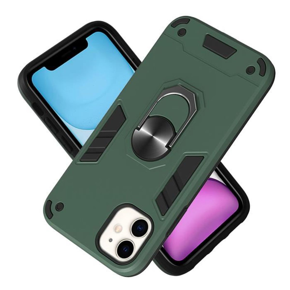 Pour iPhone 11 Coque de Protection 2 in 1 Antichoc Durable Bumper Arrière Etui Housse iPhone 11 (6.1