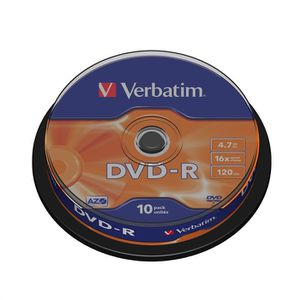 CD - DVD VIERGE Verbatim DVD-R 16x (10)