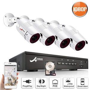 CAMÉRA DE SURVEILLANCE Kit de Système de Sécurité, POE Caméra de Surveill