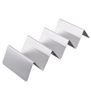 PORTE-VERRE Wave Shape Holder Taco en acier inoxydable Porte-a