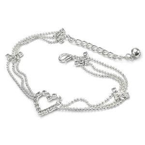 CHAINE DE CHEVILLE Chaîne Strass Cristal Décor Pied Lien Bracelet Acc