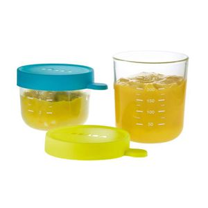 USTENSILES BÉBÉ BEABA Coffret 2 portions verre 150ml blue, 250ml n