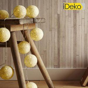 LUSTRE ET SUSPENSION iDeko®Guirlande lumineuse 10 boules LED en coton t