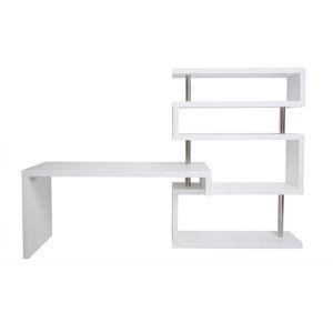 BUREAU  Bureau design blanc laqué amovible T-MAX
