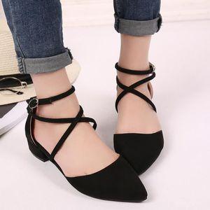 ESCARPIN Mode point Casual Toe Boucle Bracelet carré Sandal