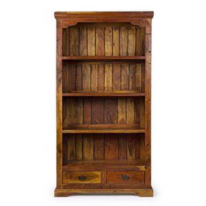 BIBLIOTHÈQUE  Bibliothèque chateaux avec 4 étagères et 2 tiroirs