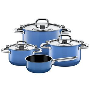 POÊLE - SAUTEUSE Silit Pot-Set 4 pièces. Nature Bleu 2109299523