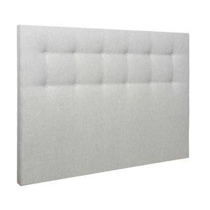 TÊTE DE LIT Tête de lit déco capitonnée jacquard gris blanc 16