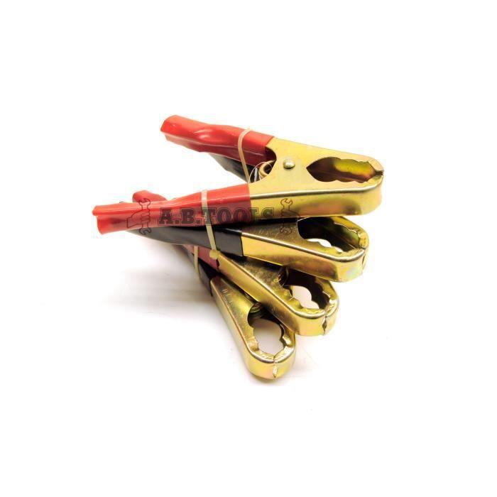 Câble de démarrage / Booster Pack pinces crocodile clip de Remplacement / Grip 2 Paires TE179
