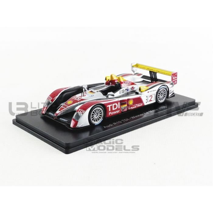 Voiture Miniature de Collection - PROMOCAR 1/43 - AUDI R10 TDi - Winner Le Mans 2008 - Black / Red / Silver - SPA6