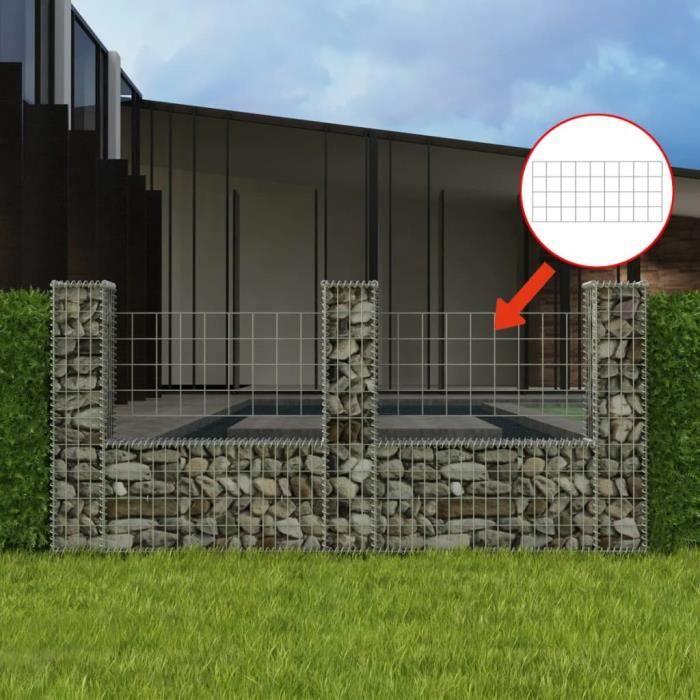 ��4028Luxueux Magnifique- Panier de gabion - Mur en Gabion Lit surélevé à gabion Jardinière Gabion à Pierre Déco Jardin Cage en form
