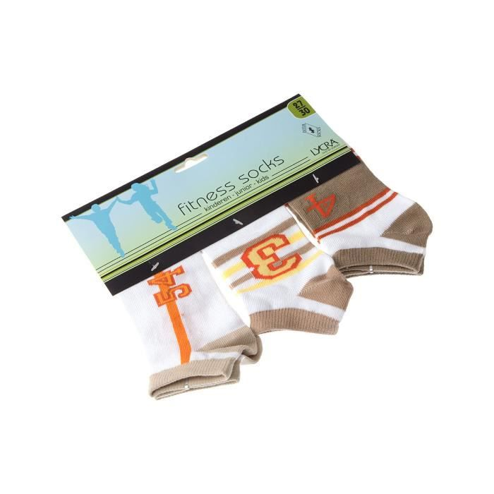 InterSocks - Chaussette Invisibles Fitness socks - Garçon 35/38 Multicolore