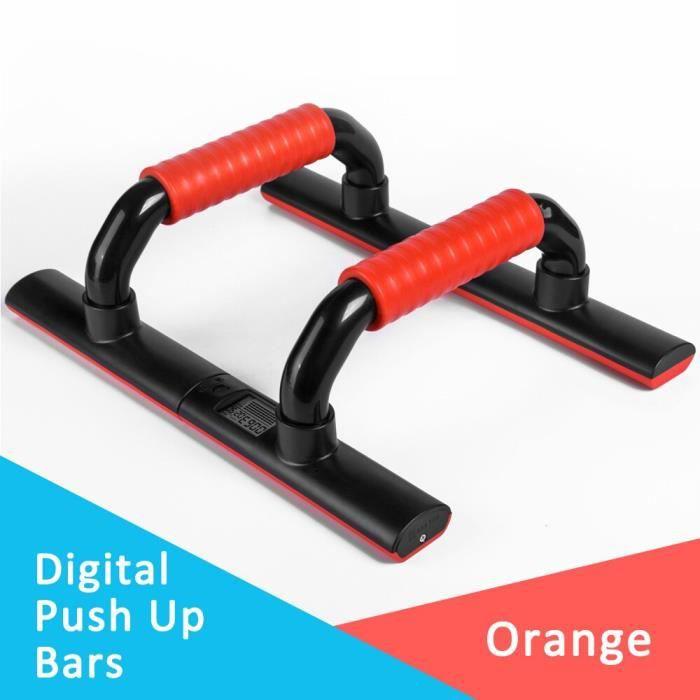 KYTO Push Up barres équipement d'exercice supports numériques en forme de I Gym accueil exercice outi - Modèle: Rouge -