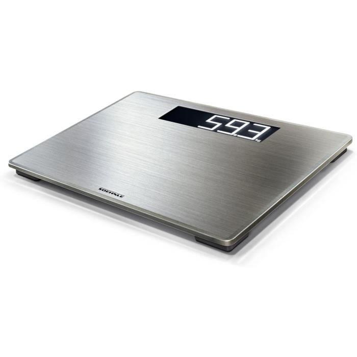 Soehnle Style Sense Safe 300, balance électronique avec large écran LCD, balance de précision supporte jusqu'à 180 kg, pèse personne