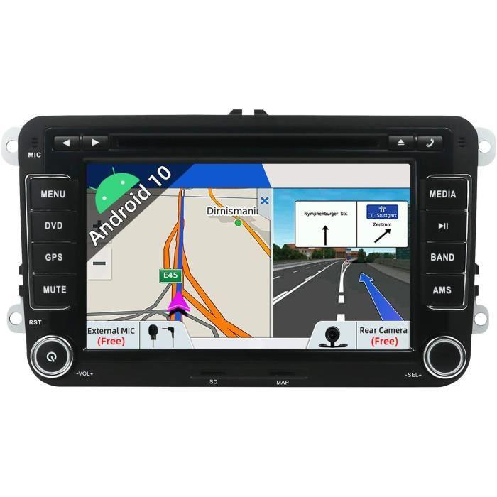 AUTORADIO JOYX Android 10 Double Din Autoradio pour VW Golf-Skoda-Seat-Passat-Polo Navigation - Cam&eacutera Canbus Microphon86