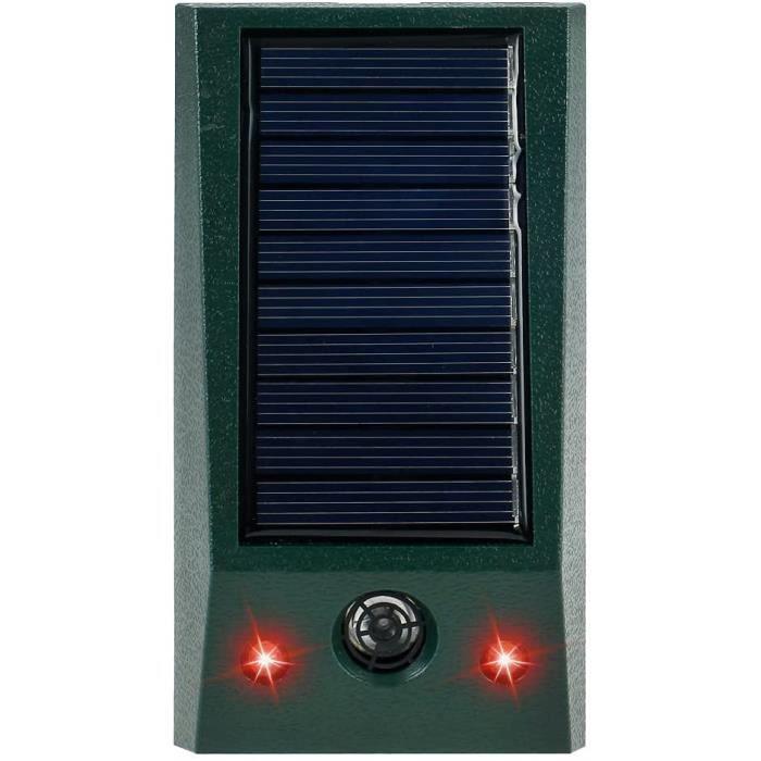 Répulsif Chat Ultrason Solaire Exterieur,Repulsif Chat Jardin Imperméable Suspendable,Répulsif pour Animaux à Ultrasons avec Ca A149