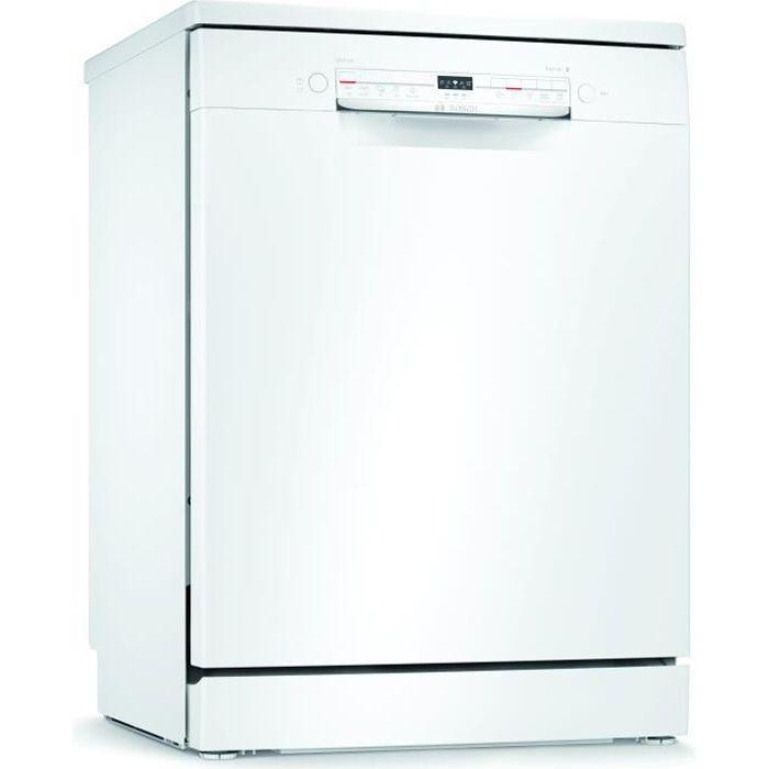 Lave-vaisselle pose libre BOSCH SMS2ITW12E Série 2 - 12 couverts - Moteur induction - L60cm - 48 dB - Blanc