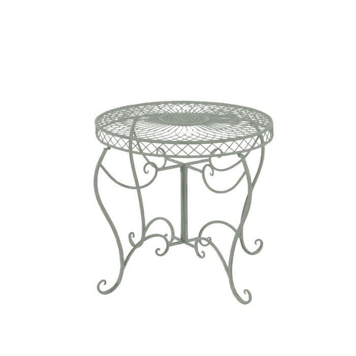 CLP Table ronde de jardin faite à la main SHEELA, table de design en fer forgé au style nostalgique, diamètre Ø 88 cm, 6 couleurs...