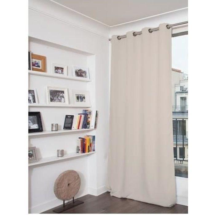 Rideau Phonique Occultant et Thermique MOONDREAM Galet 140 x 260 cm