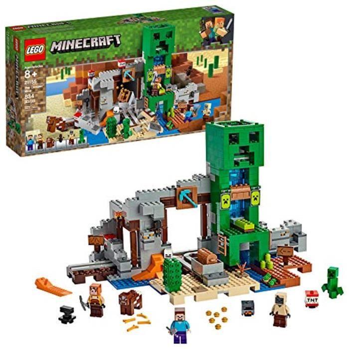 Jeu D'Assemblage LEGO KQDG9 Minecraft Le Creeper mine 21155 Kit de construction, nouveaux 2019 (834 Pieces