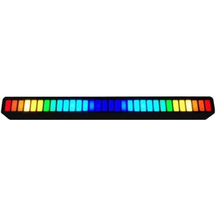 Bar à LED lumières rythmes activées par la voix RGB Sound Control Music Lamp Bar Stick Black