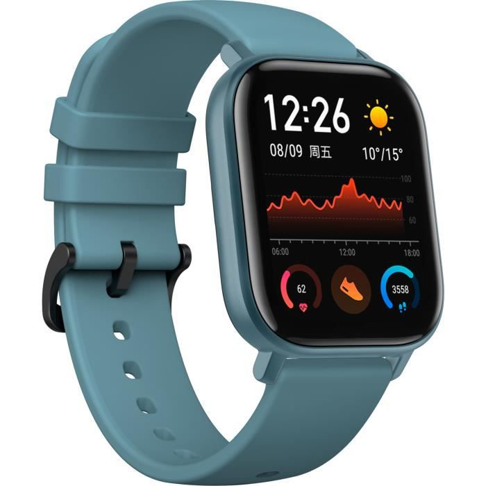 Smartwatch Amazfit GTS montre intelligente Bleu AMOLED 4,19 cm (1.65-) Cellulaire GPS (satellite)