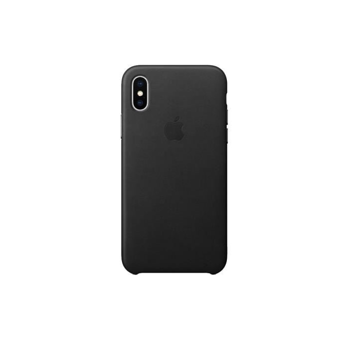 coque cuir apple iphone x xs noir
