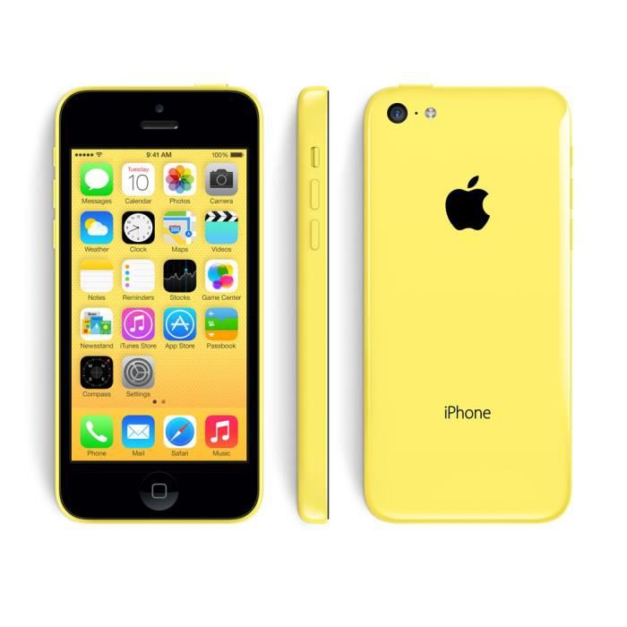 apple iphone 5c 16 gb jaune reconditionne a neuf achat. Black Bedroom Furniture Sets. Home Design Ideas
