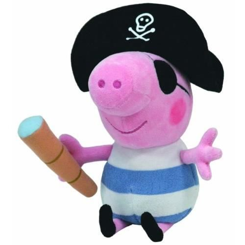 16cm peluche peppa pig peppa pig george pirate achat. Black Bedroom Furniture Sets. Home Design Ideas