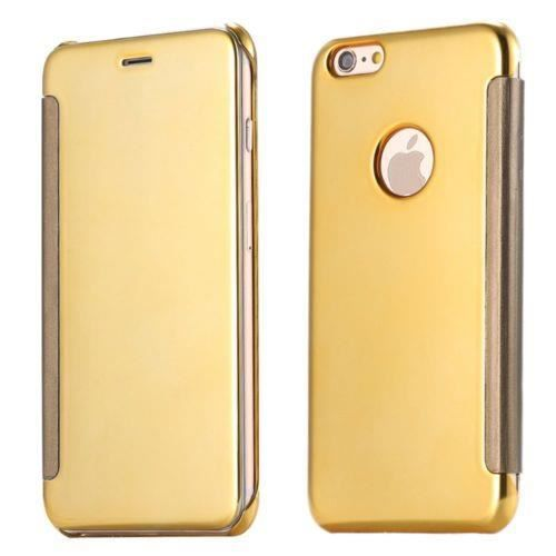 Housse etui dor iphone 5 5s se rabat surface de mirroir for Etui housse iphone 5