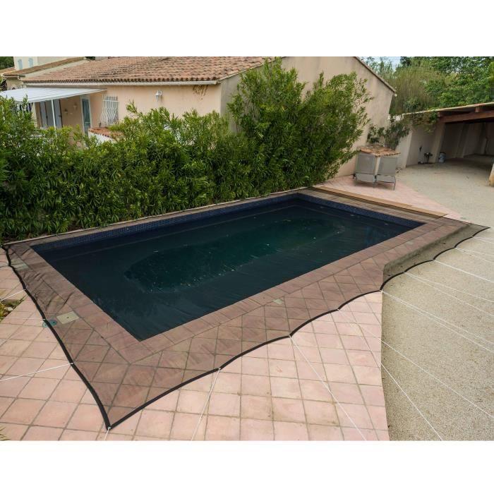 PE bâche de protection Ø 4,50 m environ piscine couverture piscine Hiver stable détaillée