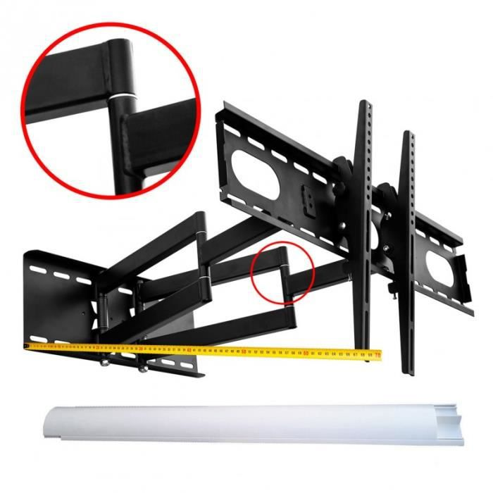 Micro-ondes Supports De Montage Support Mural Pour Avec Extensible Arms 40 kg Noir Blanc