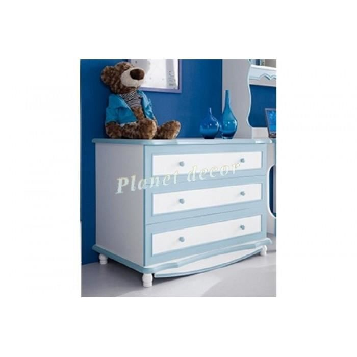 commode alix bleu achat vente commode semainier. Black Bedroom Furniture Sets. Home Design Ideas