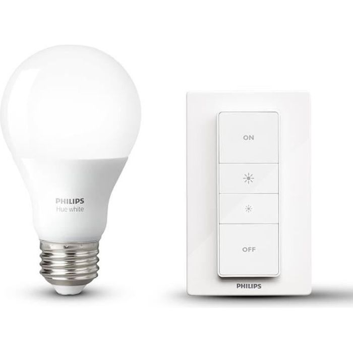 philips hue wireless dimming kit avec ampoule led e27 60 w et t l commande achat vente. Black Bedroom Furniture Sets. Home Design Ideas