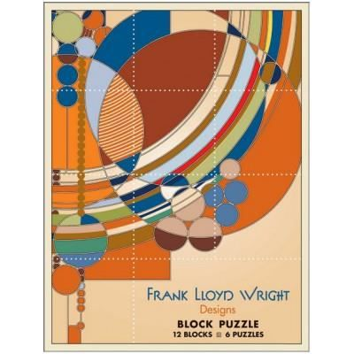frank lloyd wright 12 cubes pour six oeuvres achat vente puzzle frank lloyd wright 12. Black Bedroom Furniture Sets. Home Design Ideas