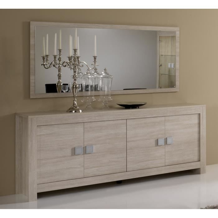 salle manger model pisa beige bahut 4 portes miroir 180. Black Bedroom Furniture Sets. Home Design Ideas