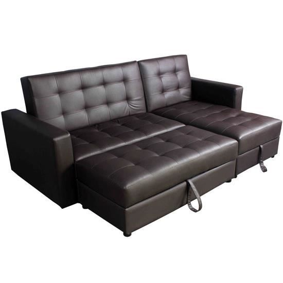 canap d 39 angle convertible lit canap avec coffre achat vente canap sofa divan cdiscount. Black Bedroom Furniture Sets. Home Design Ideas