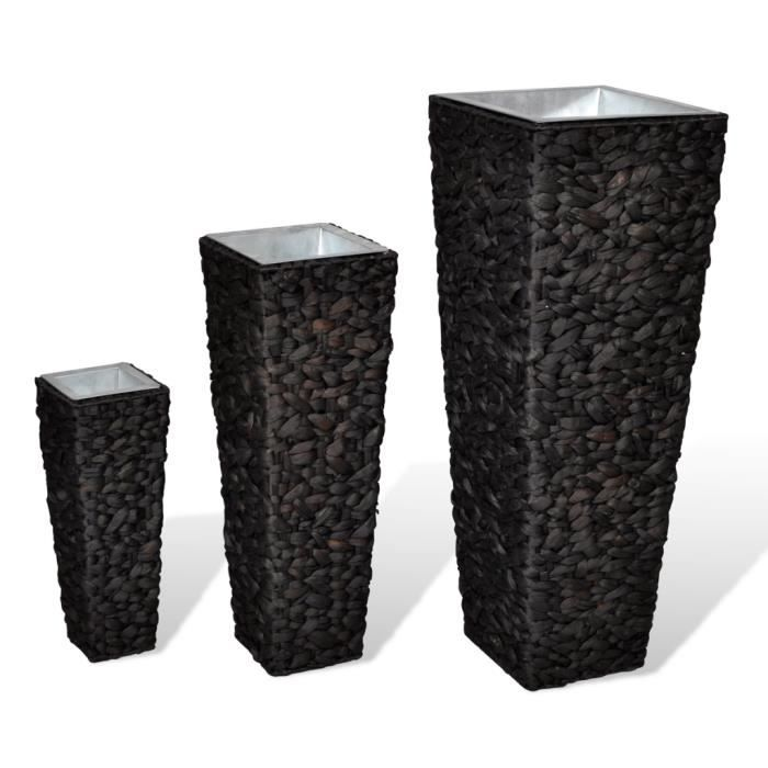 3pcs cache pot de fleur en jacinthe d 39 eau tress e pour. Black Bedroom Furniture Sets. Home Design Ideas