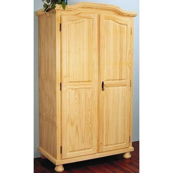 armoire 2 portes en pin genf achat vente armoire de. Black Bedroom Furniture Sets. Home Design Ideas