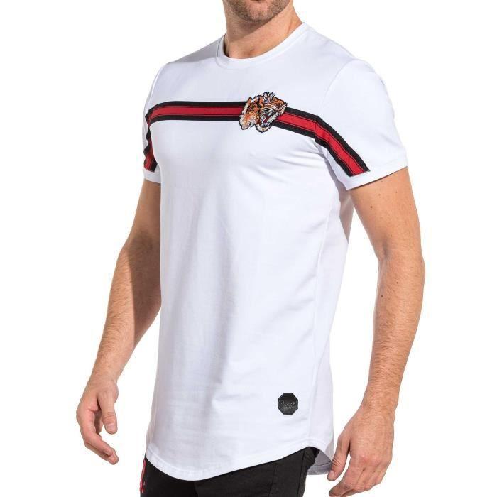 Hommes Lacoste graphique à encolure ras-du-cou à manches courtes Séchage rapide T-shirt en rouge