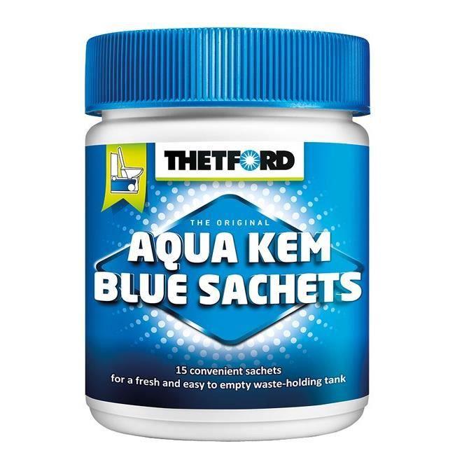 Additif Sanitaire WC Chimiques Camping Car Aqua Kem 15 Sachets 3 Gratuits