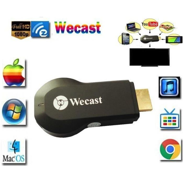 wecast c2 miracast dlna affichage airplay wifi tv mini dongle tv cast dongle stick tv hdmi 1080p. Black Bedroom Furniture Sets. Home Design Ideas