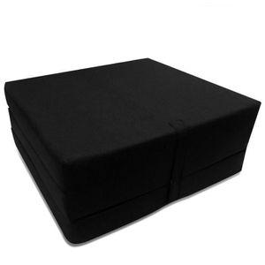 LIT PLIANT Magnifique Matelas en mousse pliable noir 190 x 70