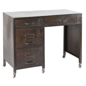 bureau style industriel achat vente bureau style industriel pas cher cdiscount. Black Bedroom Furniture Sets. Home Design Ideas
