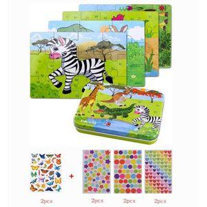 PUZZLE Jouet Puzzle Enfant en Bois, 4 Degrés Variables D'