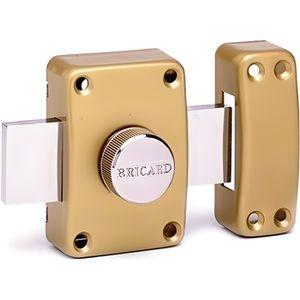 SERRURE - BARILLET Verrou de securite a bouton pour porte avec cylind