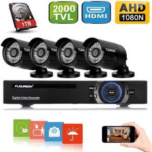 CAMÉRA DE SURVEILLANCE FLOUREON Système de Surveillance DVR 8CH 1080N Enr