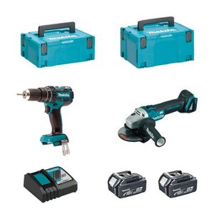 PERCEUSE MAKITA Kit DLX2126TJ1 (DGA504 + DHP480 + 2 x 5,0 A