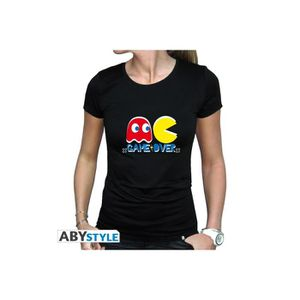 T-SHIRT ABYstyle - Pac -MAN - T-shirt Game Over femme MC b
