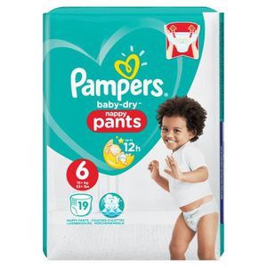 COUCHE Baby dry pants T6 x 19 Pampers